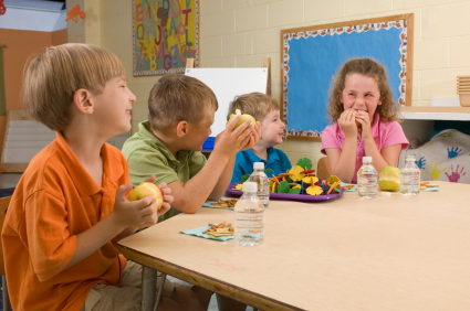 eating in classroom